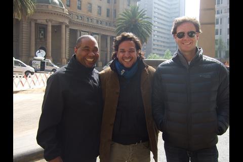 Executive producer Eddie Mbalo and producers Ryan Haidarian and Peter Safran.